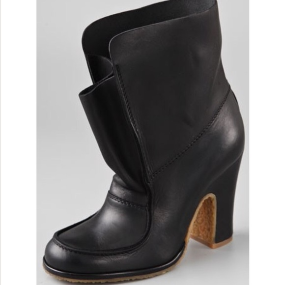 1fc6c971ad2 Maison Margiela Work Moc Black Leather Booties